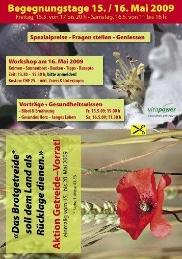 Begegnungstage 15. / 16. Mai 2009 - Vitapower