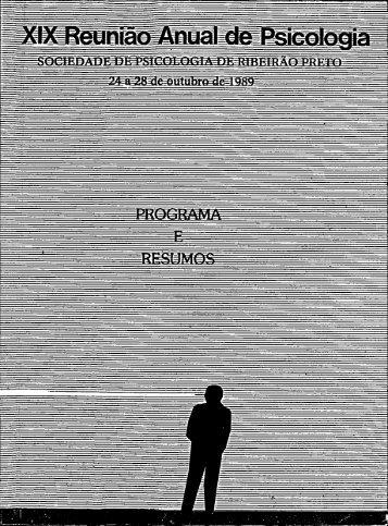 1989 - Sociedade Brasileira de Psicologia