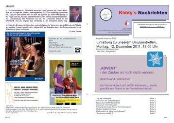 November 2011 - Gesellschaft Nierentransplantierter und ...