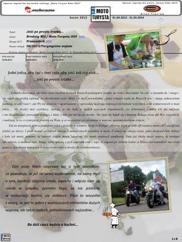 RELACJA / prezentacja zwykła - MOTO-TURYSTA