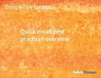 slideshare-Design Tips for 2012 - Inbox Orange