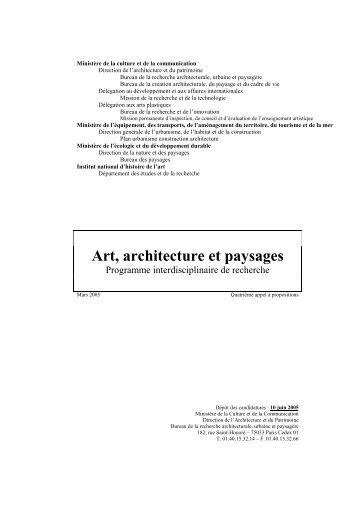 Art, architecture et paysages - Ministère du Développement durable