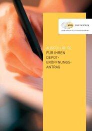 ausfüllhilfe für ihren depot - ADIG Fondsvertrieb GmbH