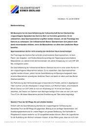 20130717_Medienmitteilung ASP - Volkswirtschaft Berner Oberland