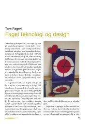 Faget teknologi og design