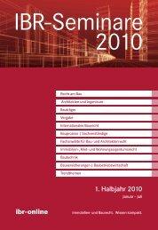 IBR-Seminare 1. Halbjahr 2010 - ibr-online
