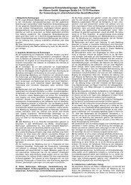 Allgemeine Einkaufsbedingungen, Stand Juni ... - KLEINER GmbH