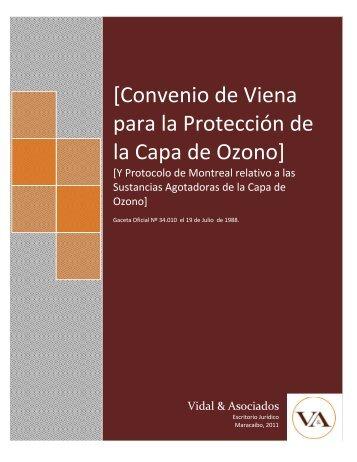 Convenio de Viena para la Proteccion de la Capa de Ozono