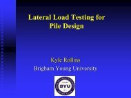 Lateral Load Testing for Pile Design
