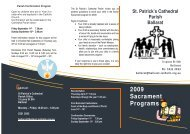 2009 Sacrament Programs - Catholic Diocese of Ballarat