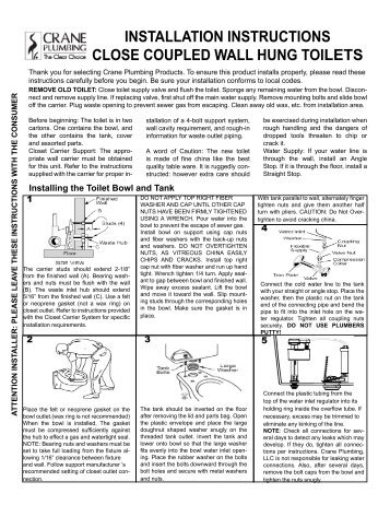 wall mounted toilet installation instructions