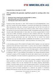 PDF, 28 kb - IFM Immobilien AG