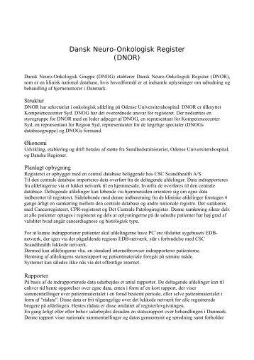 klik her - Dansk Neuro-Onkologisk Gruppe
