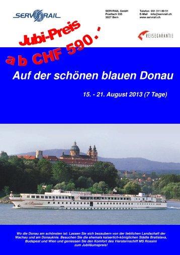 Auf der schönen blauen Donau - SERVRail