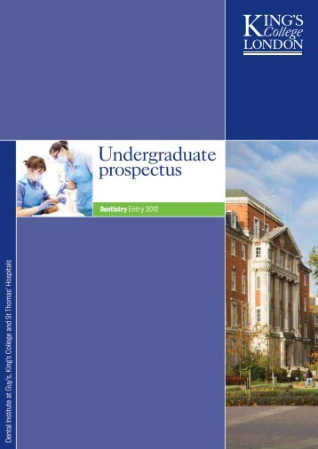 Undergraduate-2012 - King's College London