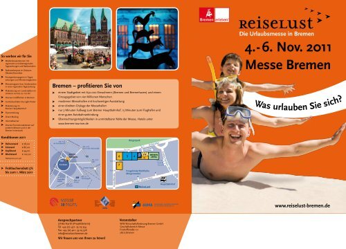 4.- 6. Nov. 2011 Messe Bremen - ReiseLust
