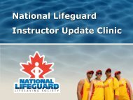NLS Instructor Update Clinic Trainer Notes - Lifesaving Society