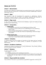 Statuts - Association pour la Formation en Ophtalmologie Vétérinaire