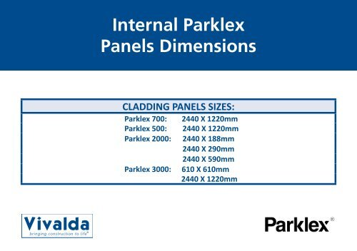Internal Parklex Panels Dimensions Vivalda
