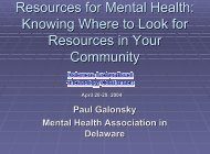 Mental Health Association In - Delaware Center For Educational ...