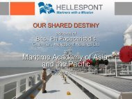 Maritime Academy of Asia and the Pacific - HELLESPONT