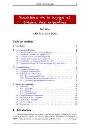 Vocalulaire de la logique et théorie des ensembles - Lyceedadultes.fr