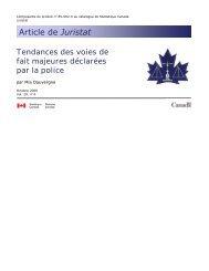 Tendances des voies de fait majeures déclarées ... - YWCA Canada