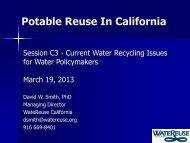 Potable Reuse In California