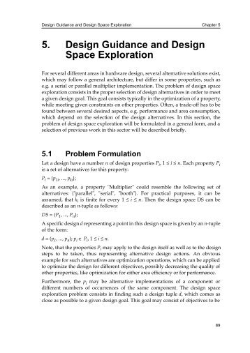 5. Design Guidance and Design Space Exploration