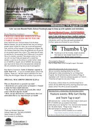 Newsletter 14 August 2013 - Moonbi Public School