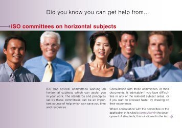 ISO committees on horizontal subjects - Online Store for ISO ...