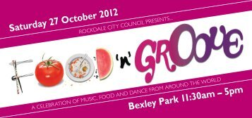 Bexley Park 11:30am – 5pm Saturday 27 October 2012