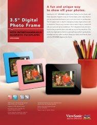 DPD308BK Spec Sheet - ViewSonic