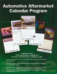 Automotive Aftermarket Calendar Program