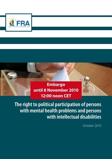 The right to political participation of persons with mental ... - ENIL