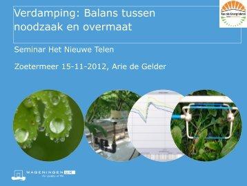 Arie de Gelder - Energiek2020