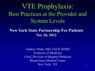 VTE Prophylaxis: Best Practices at the Provider and System Levels