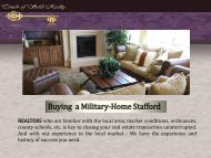Buying a Military-Home Stafford