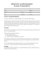 Uddannelsesplan for elever i 8. klasse - Optagelse.dk