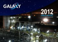 31 December 2012 - Annual Report - Galaxy Resources