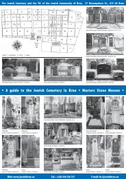 A guide to the Jewish Cemetery in Brno Masters Stone Masons