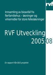 Innsamling av bioavfall fra flerfamiliehus – løsninger ... - Avfall Sverige