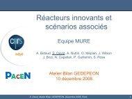 Réacteurs à neutrons rapides et scénarios associés - gedepeon