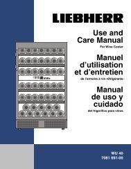Use and Care Manual Manuel d'utilisation et d ... - AJ Madison