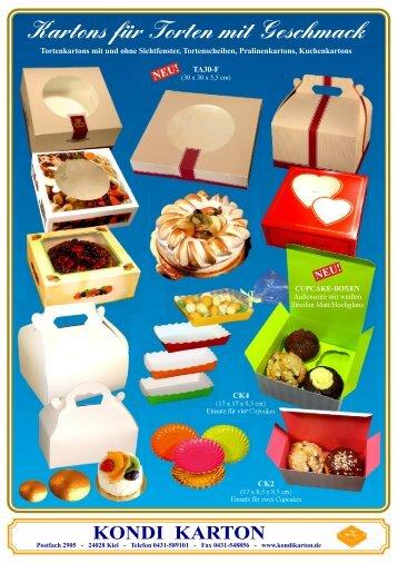 Kartons für Torten mit Geschmack - Kondi Karton