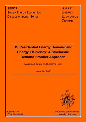 US Residential Energy Demand and Energy Efficiency: A Stochastic ...