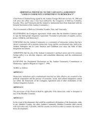 additional protocol to the cartagena agreement - International ...