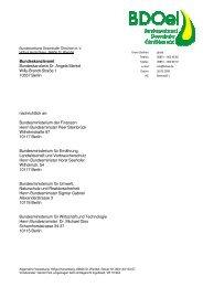 Schreiben an Bundeskanzlerin Angela Merkel - BDOel