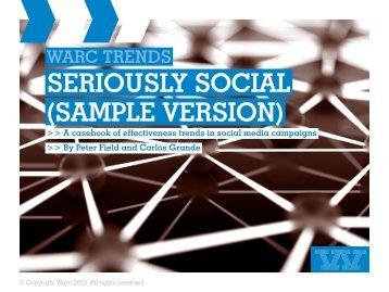 SERIOUSLY SOCIAL (SAMPLE VERSION) - Warc