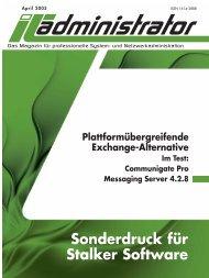 Sonderdruck für Stalker Software - CommuniGate Systems